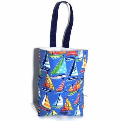 Sailboat Car Trash Bag- Nautical Car Accessory - Lined Garbage Bag for Cars - Soft Bag