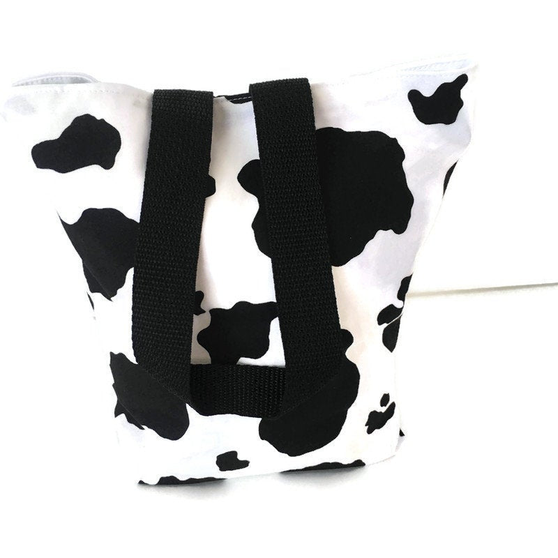 Car Trash Bag Cow Print - Cute Car Accessory - Wipe Clean  Lined (PUL) Garbage Bag - Soft Multipurpose Bag