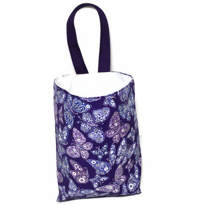 Purple Butterflies Car Trash Bag - Car Accessory - Lined Garbage Bag for Cars - Soft Bag