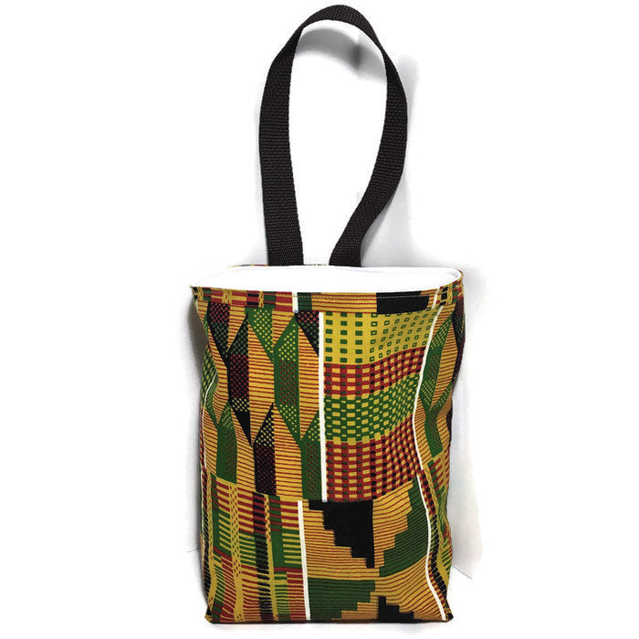 Ethnic African Kente Car Trash Bag - Car Accessory-Lined Wipe Clean Garbage Bag for Car - Soft Bag