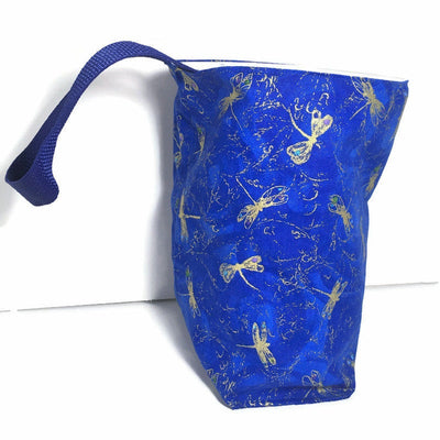Dragonfly Royal Car Trash Bag - Car Accessory - Wipe Clean Lining - Soft Bag