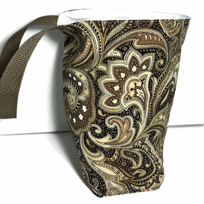 Brown Paisley Car Trash Bag - Car Accessory - Garbage Bag for Cars - Soft Bag