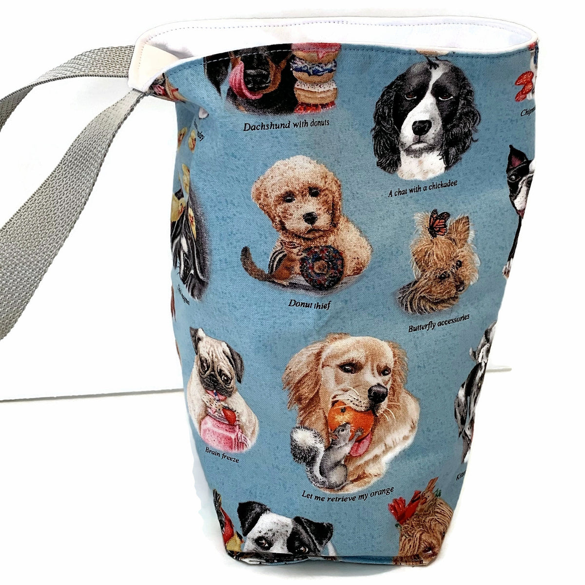 Assorted Doggies - Wipe Clean Car Trash Bag - Accessory for Car - Soft Bag