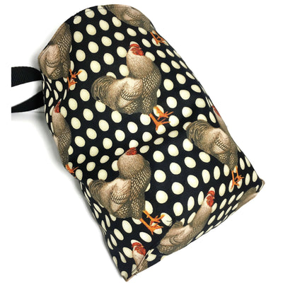 Chickens Car Trash Bag - Car Accessory - Lined Garbage Bag for Car - Soft Bag