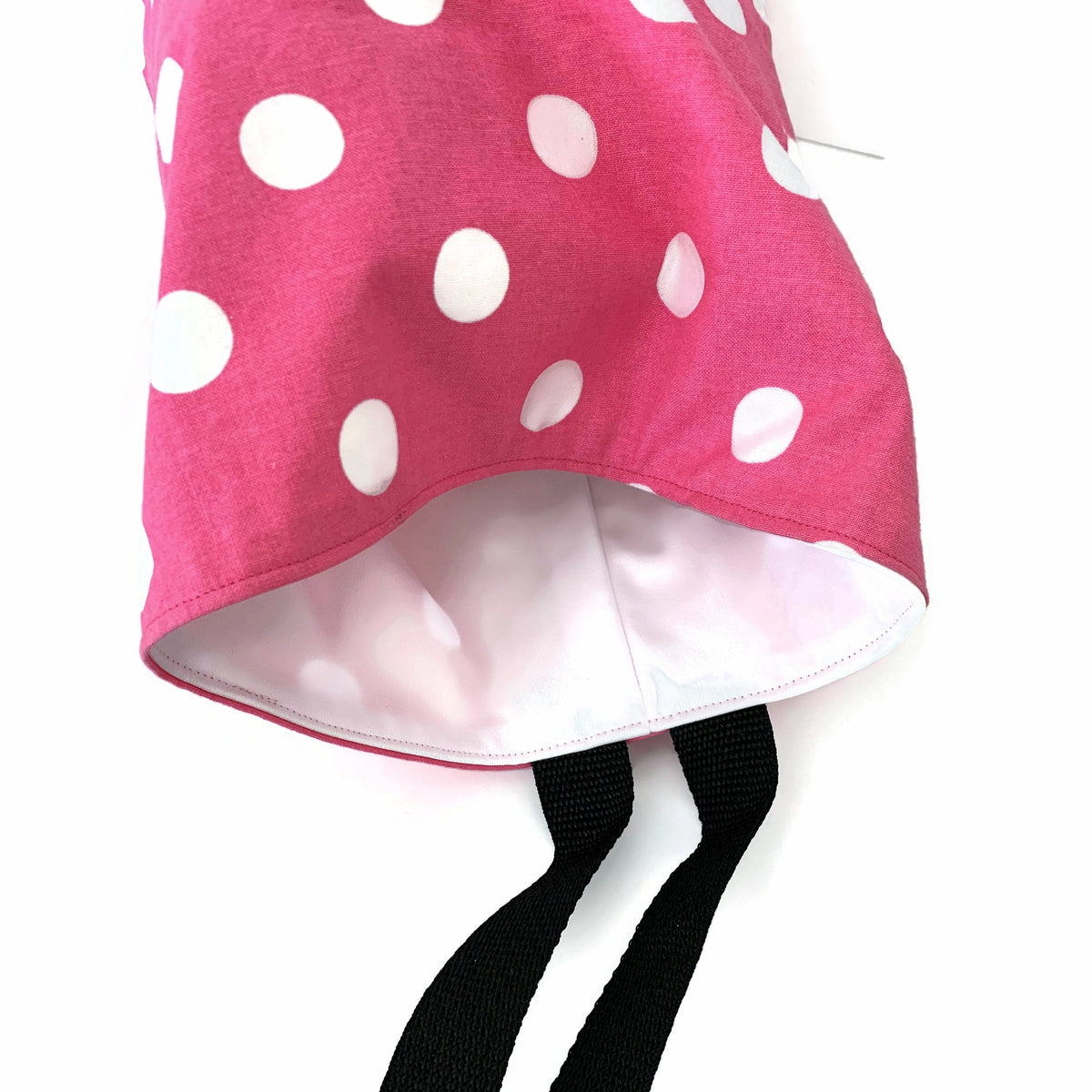 Polka Dots Pink - Car Accessory - Lined Garbage Bag for Cars - Soft Bag