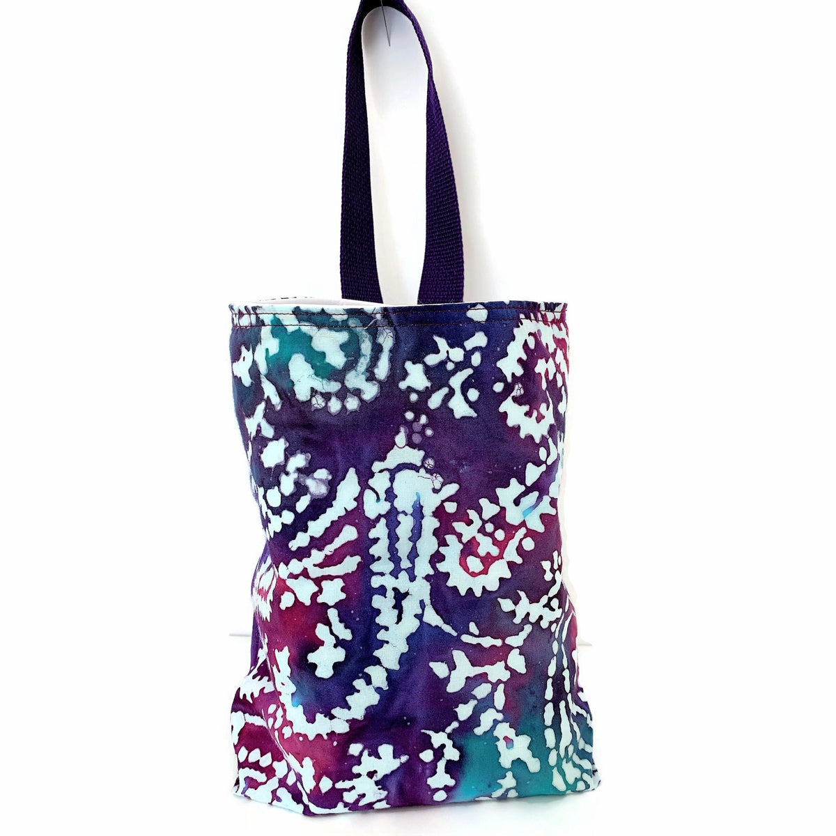 Indian Batik Paisley Purple/Fushia/Teal Car Trash Bag - Car Accessory - Tissue Holder for Cars