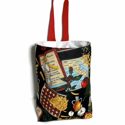 Food Italian Theme Car Trash Bag - Car Accessory - Soft  Lined Garbage Bag