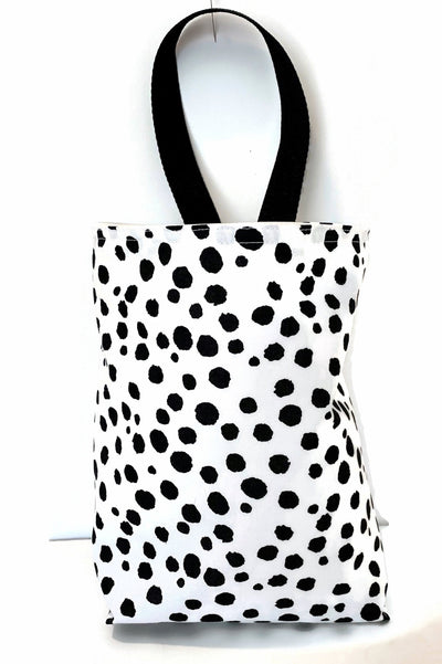 Black and White Dalmation Spots Car Trash Bag - Garbage Bag with Wipe Clean Lining For Cars- Car Accessory