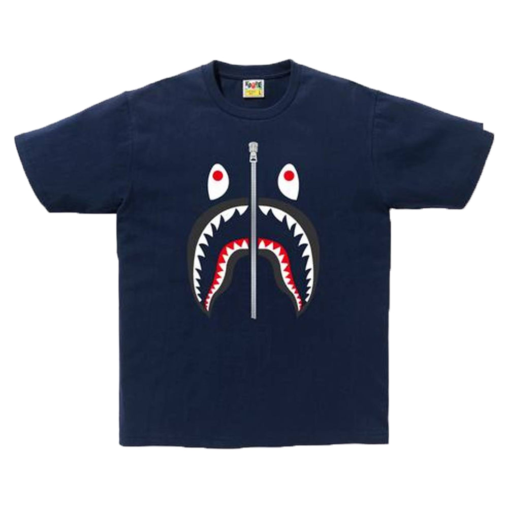 Camiseta Bape Navy Blue Shark Tee