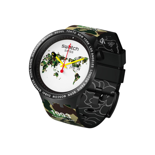 swatch x bape big bold the world edition