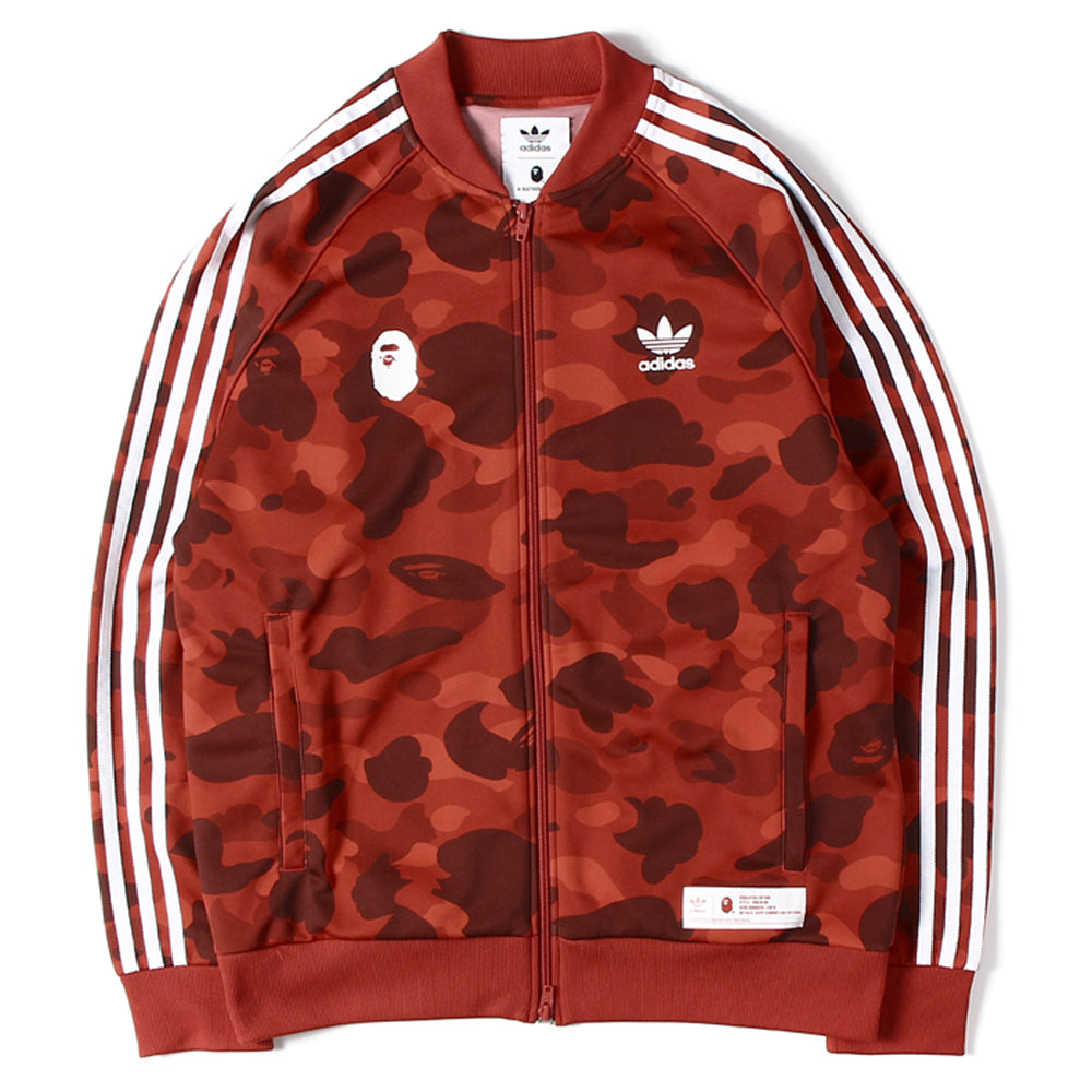 Bape x Adidas Track Top Red