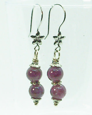 Gemstone Ruby earrings