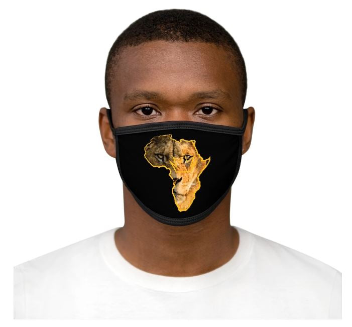 AFRICAN LION - MIXED-FABRIC FACE MASK-2