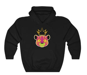 LEPPY PINK - HEAVY BLEND™ HOODED SWEATSHIRT-black
