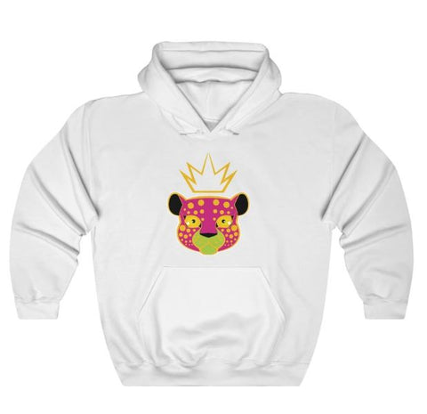 LEPPY PINK - HEAVY BLEND™ HOODED SWEATSHIRT-white