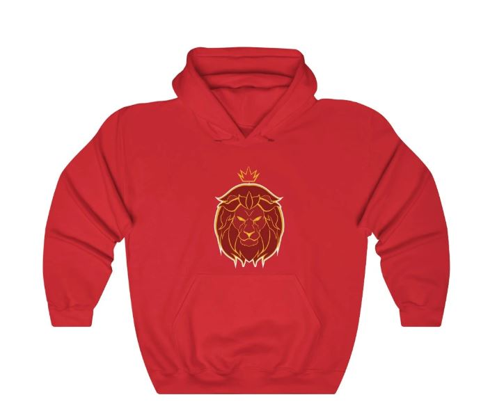 LION KING RED - HEAVY BLEND™ HOODED SWEATSHIRT