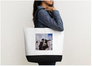 Unique Art Print cotton tote bag