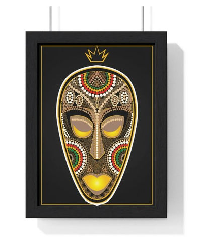 WEST AFRICAN MASK - PREMIUM FRAMED VERTICAL POSTER