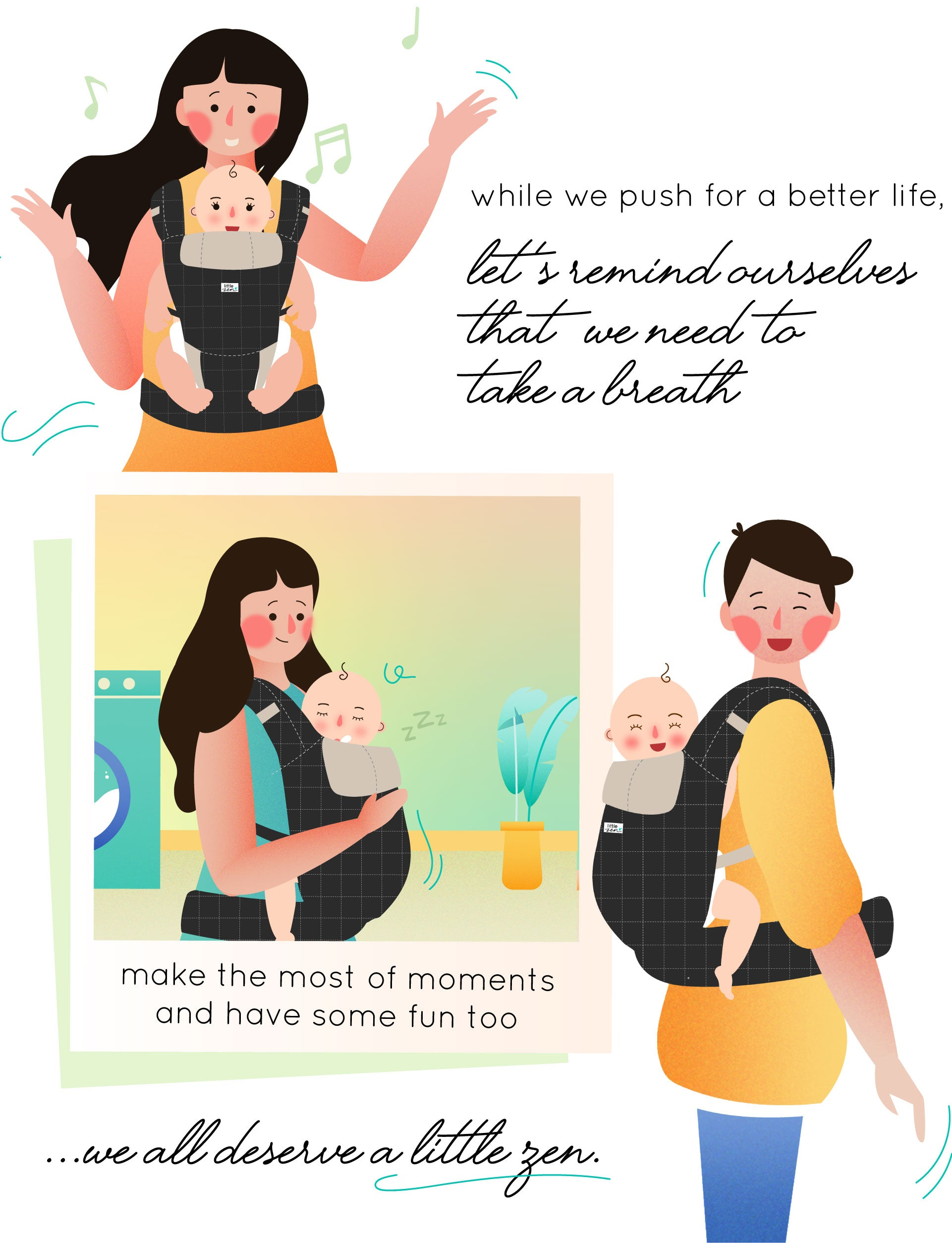 little zen soft baby carrier - about
