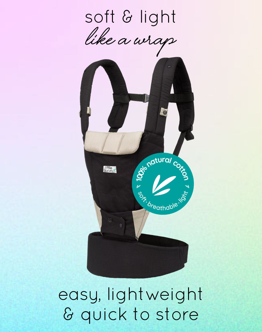 little zen soft baby carrier - zen black