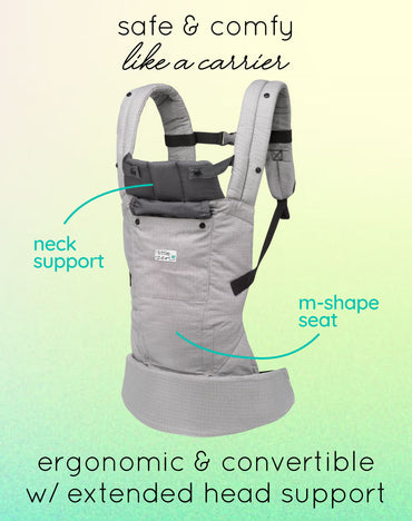 little zen soft baby carrier - zen grey