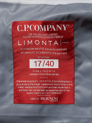 CP Company 40th Anniversary Limonta Jacket Label