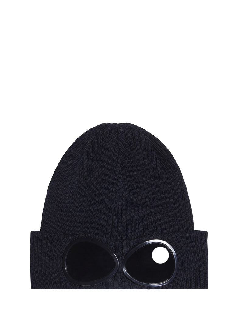 C.P. Company Undersixteen Goggle Beanie Hat in Navy