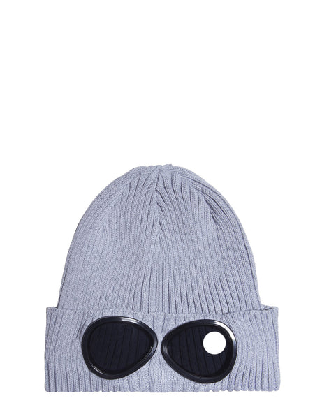 C.P. Company Undersixteen Goggle Beanie Hat in Grey