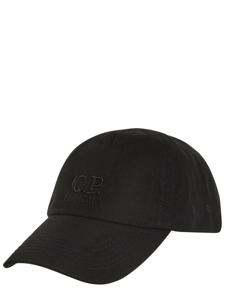 C.P. Company Tonal Cap in Black