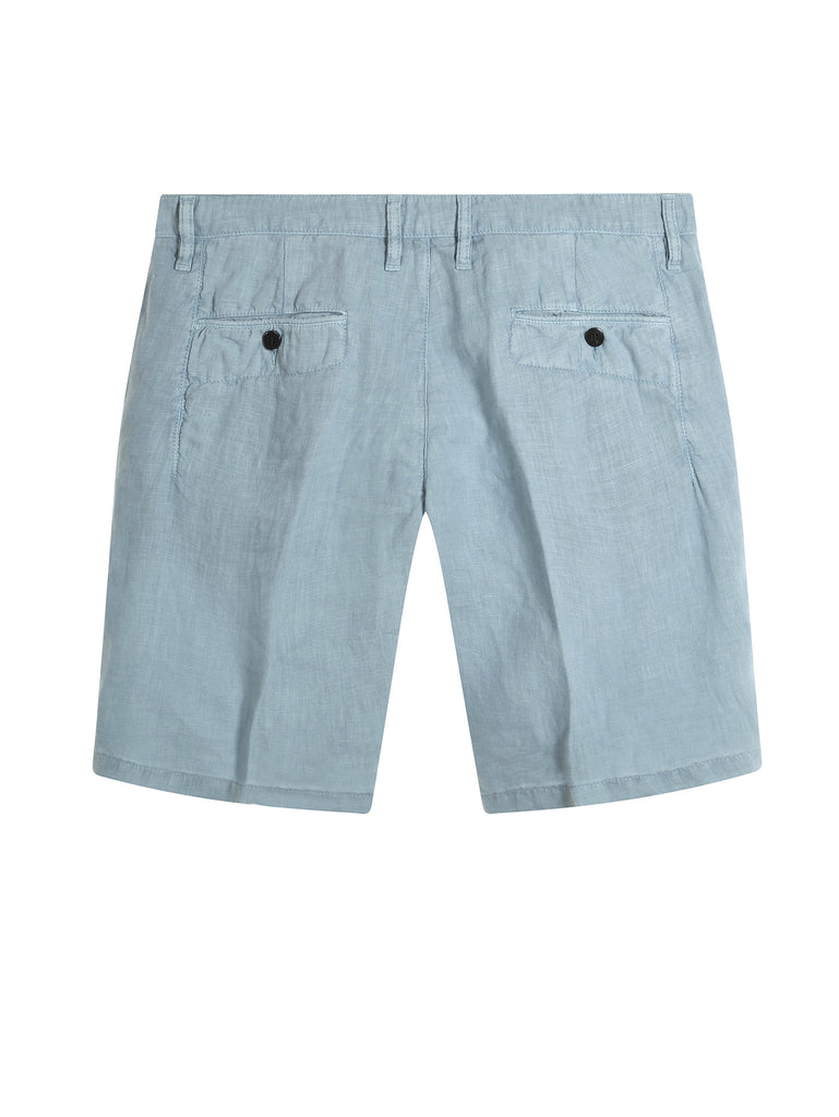 C.P. Company Fast Dyed Linen Bermuda Shorts in Blue