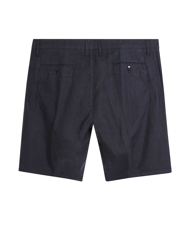 C.P. Company Fast Dyed Linen Bermuda Shorts in Navy