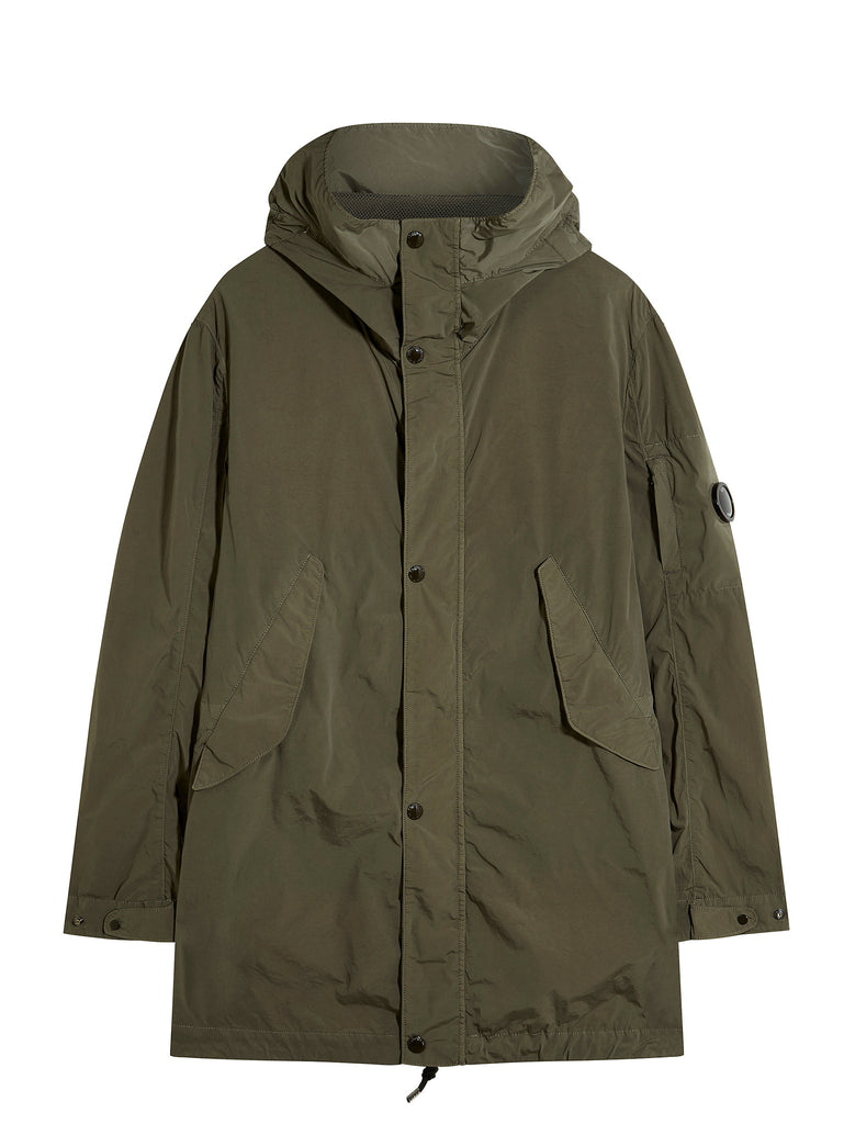 C.P. Company Nycra Fishtail Parka in Green