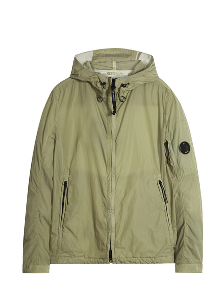 C.P. Company Chrome Hooded Jacket in Yellow