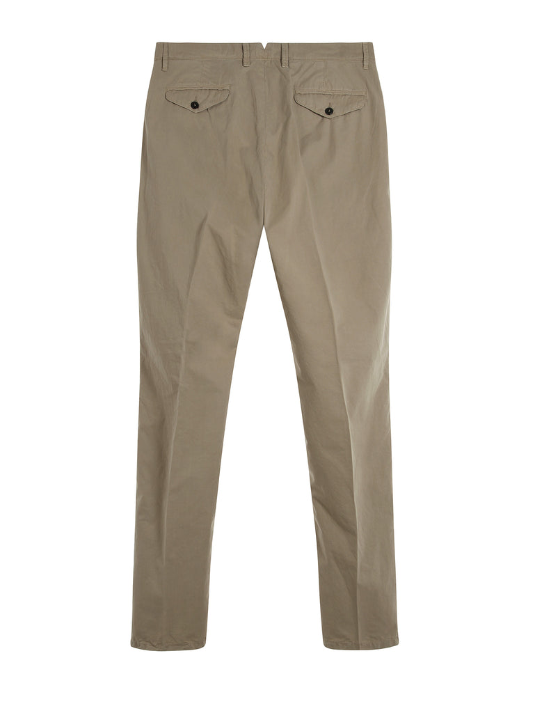 C.P. Company Old Dyed Cotton Gaberdine Slim Fit Trousers in Khaki