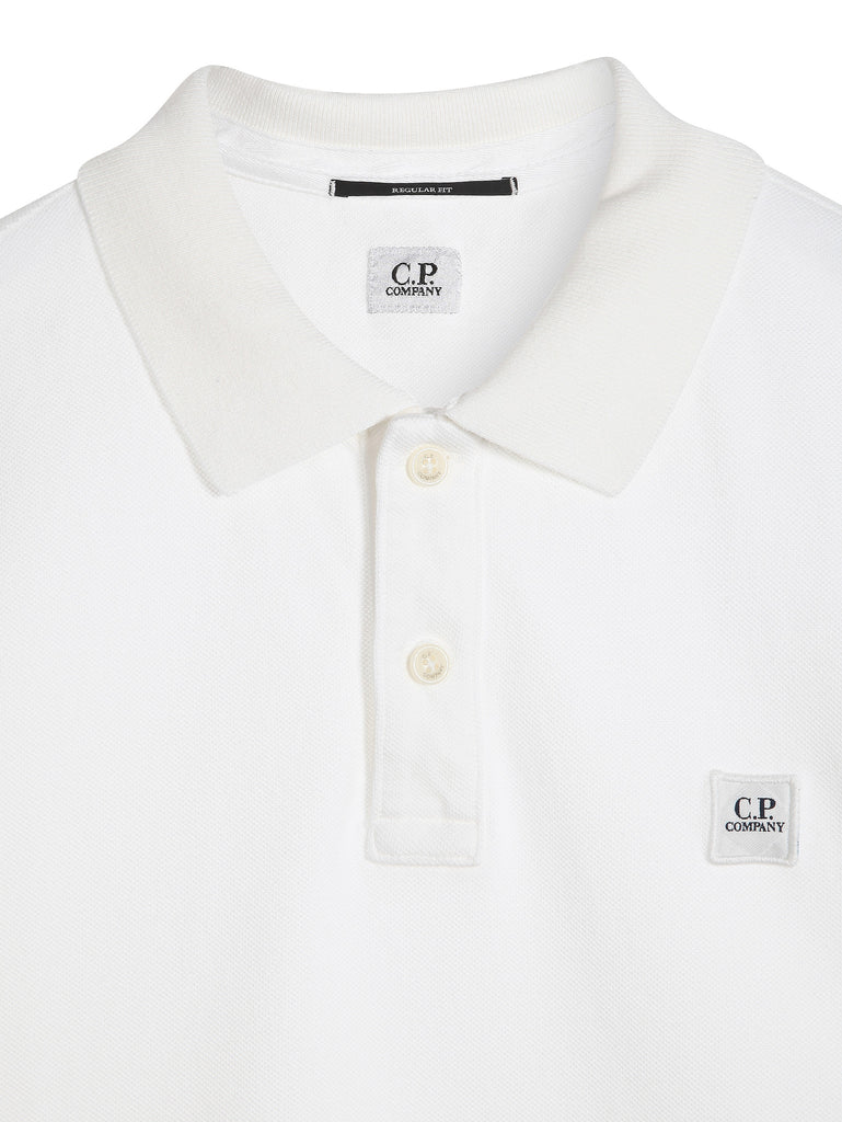 C.P. Company GD Regular Fit SS Polo Shirt in White