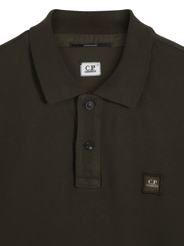 C.P. Company GD Regular Fit SS Polo Shirt in Military Green