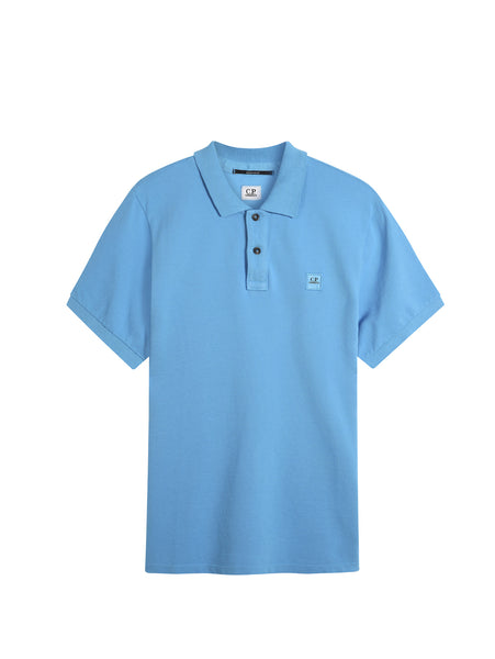 C.P. Company GD Regular Fit SS Polo Shirt in Light Blue