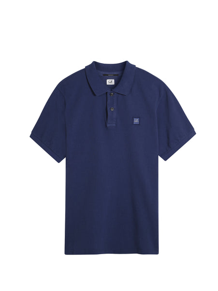 C.P. Company GD Regular Fit SS Polo Shirt in Dark Blue