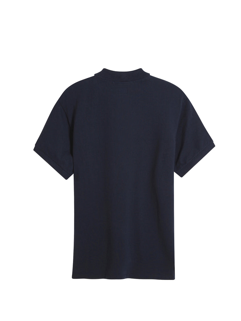 C.P. Company GD Regular Fit SS Polo Shirt in Navy