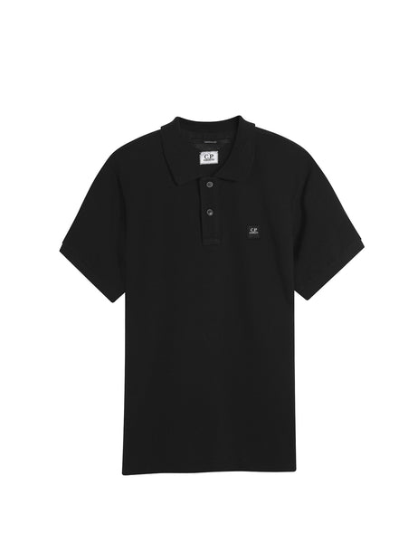 C.P. Company GD Regular Fit SS Polo Shirt in Black