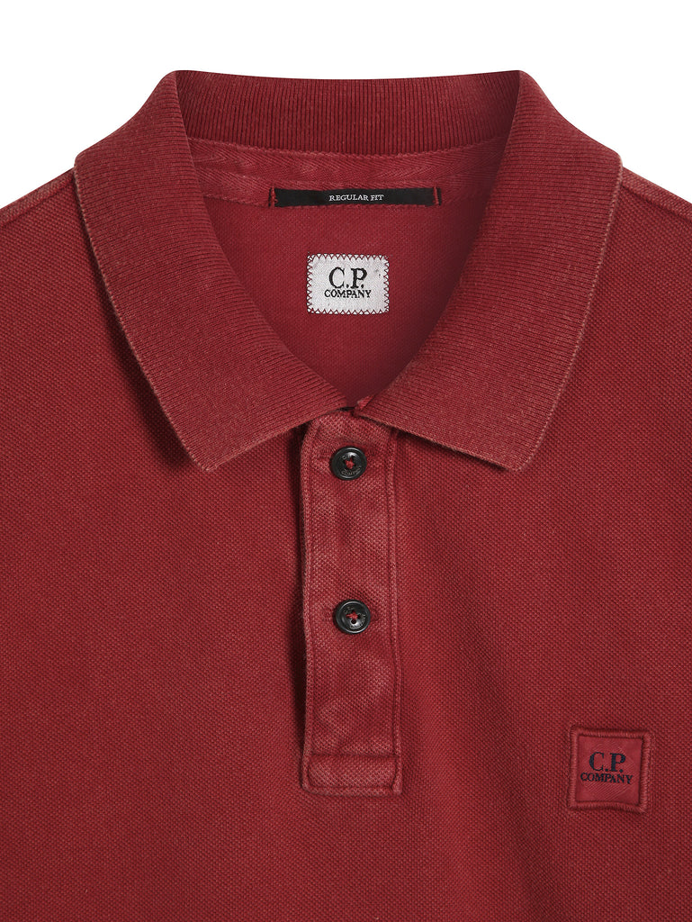 C.P. Company Fast Dyed Regular Fit SS Polo Shirt in Red