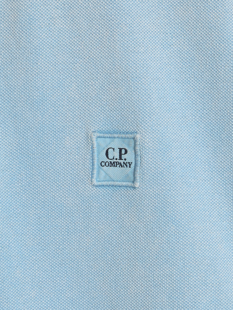 C.P. Company Fast Dyed Regular Fit SS Polo Shirt in Light Blue