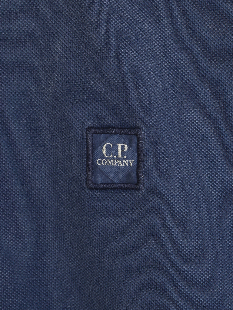 C.P. Company Fast Dyed Regular Fit SS Polo Shirt in Blue