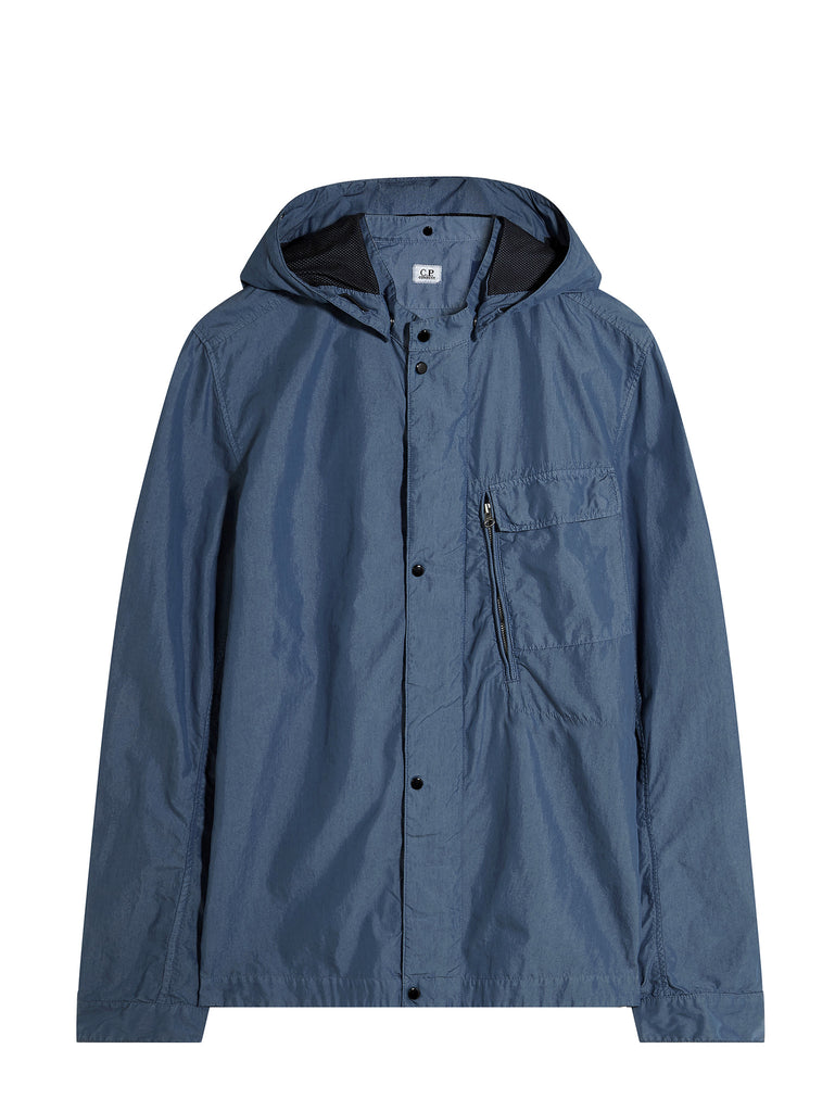 C.P. Company 50 Fili Goggle Overshirt in Light Blue
