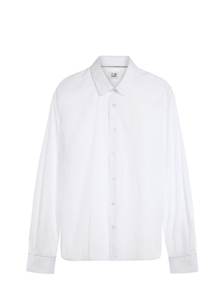 C.P. Company Stretch Poplin LS Shirt in White
