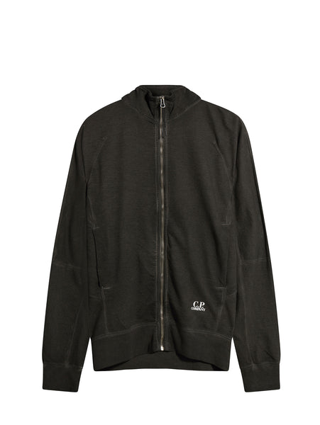 C.P. Company Full-Zip Sweatshirt in Black