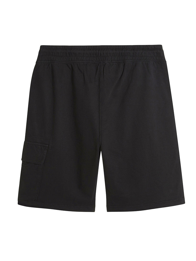 C.P. Company Light Fleece Lens Shorts in Black