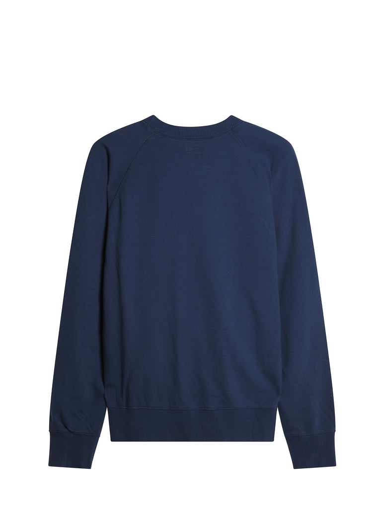 C.P. Company Diagonal Fleece Sweatshirt in Blue