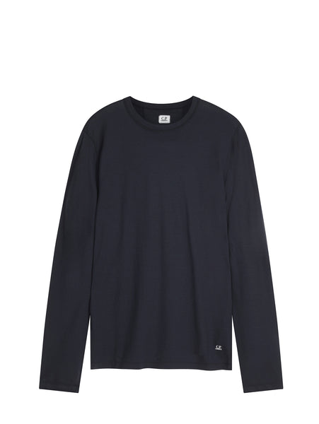 C.P. Company Garment Dyed Crêpe Jersey in Navy