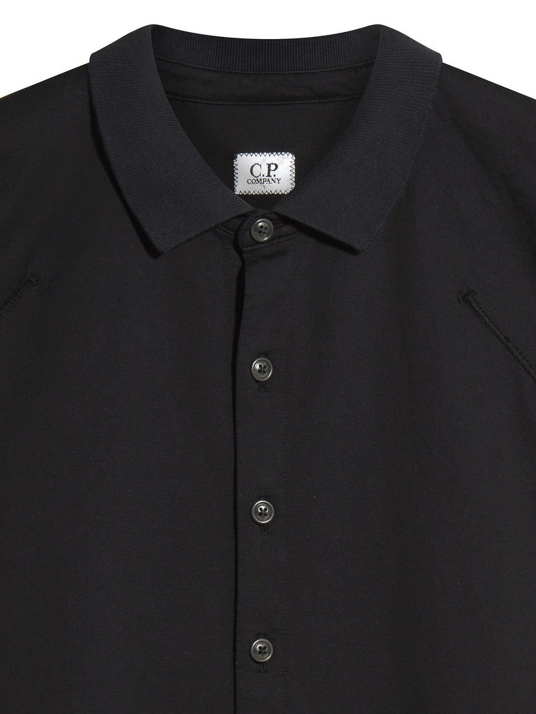 C.P. Company Short Sleeve Button Pocket Shirt in Black